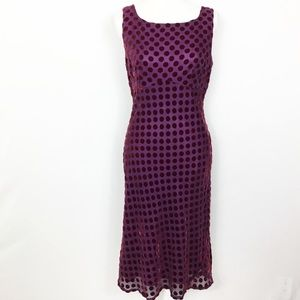 Nanette Lepore Silk Velvet Polka Dot Dress